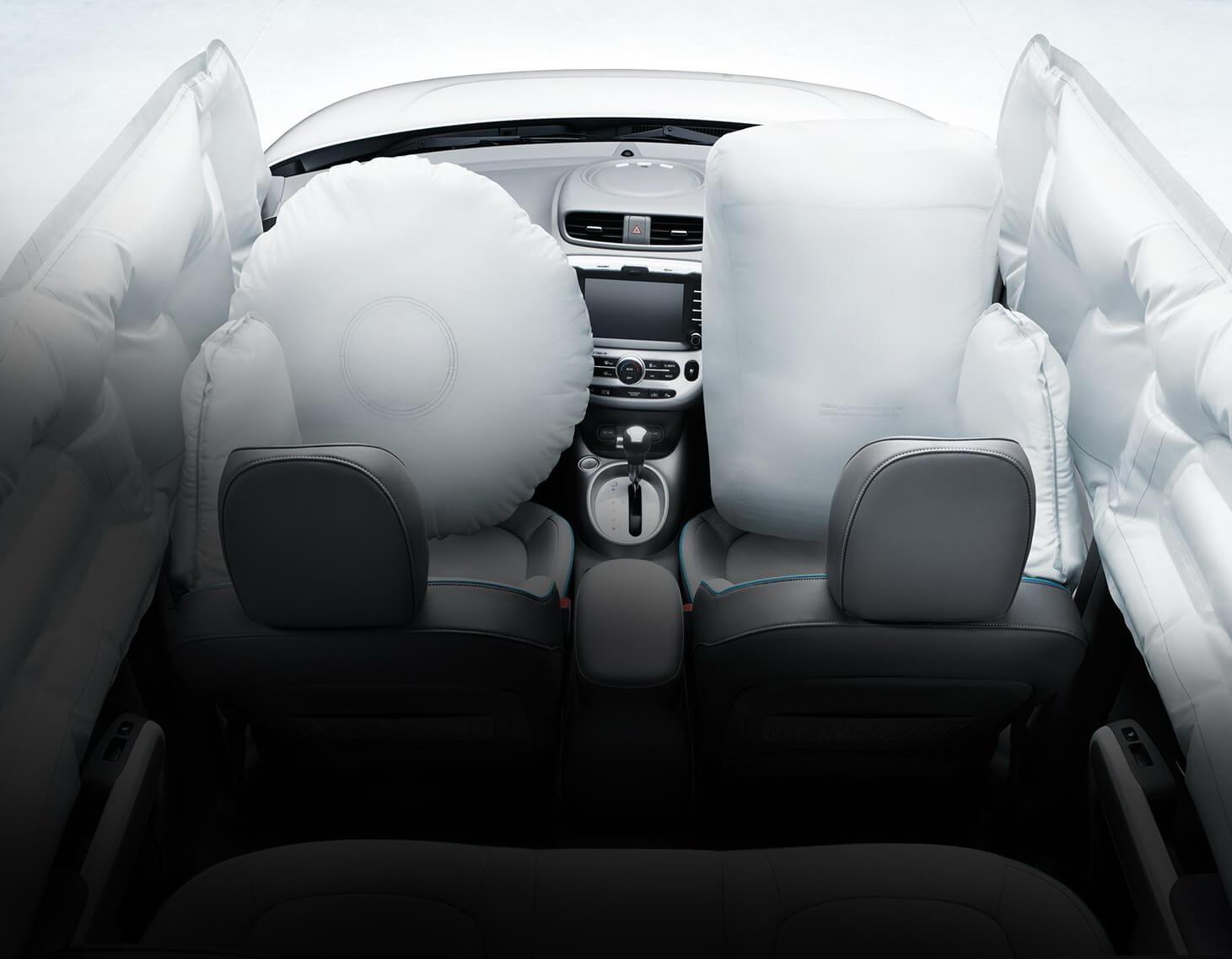 Фронтальные ибоковые подушки безопасности Kia Soul EV