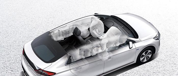 Схема подушек безопасности Hyundai IONIQ Electric