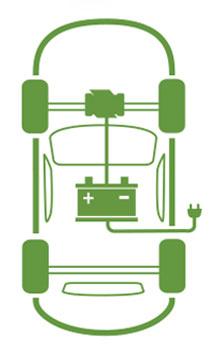 Схема работы элекромобиля ( BEV)