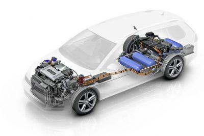 Схема автомобиля на топливных элементах