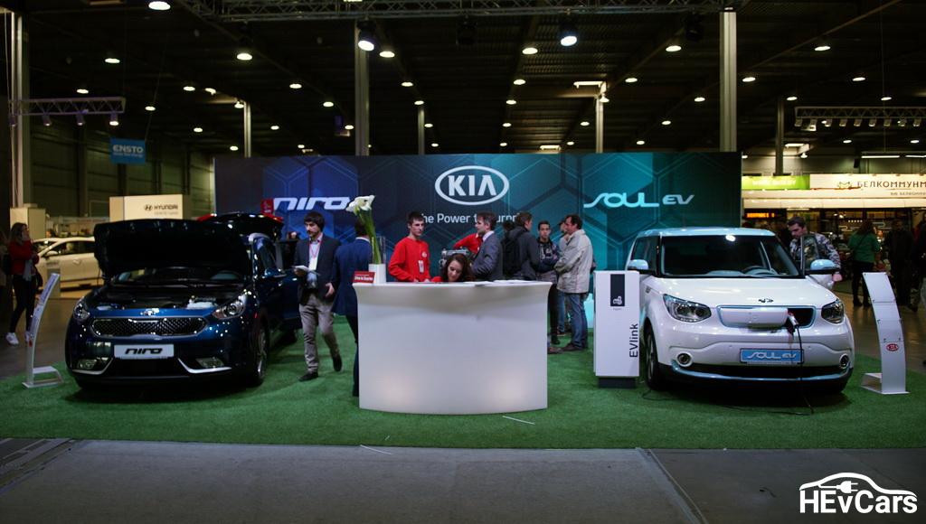 KIA Soul EV и KIA Niro на выставке Plug-In Ukraine 2017