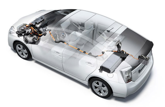 Работа гибридной установки Toyota Prius Hybrid 2010
