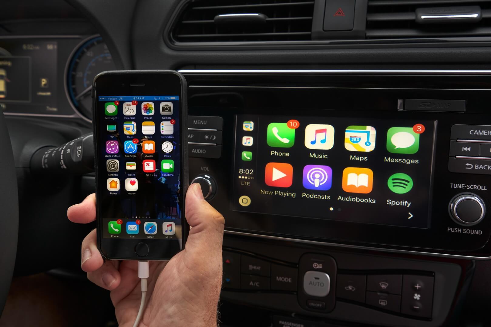 Доступ к смартфону Nissan Connect в Nissan Leaf 2018