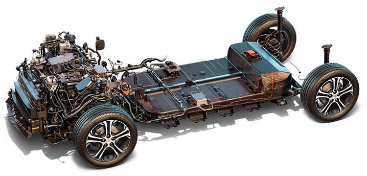Колесная база с двигателем и батареей Chevrolet Bolt EV
