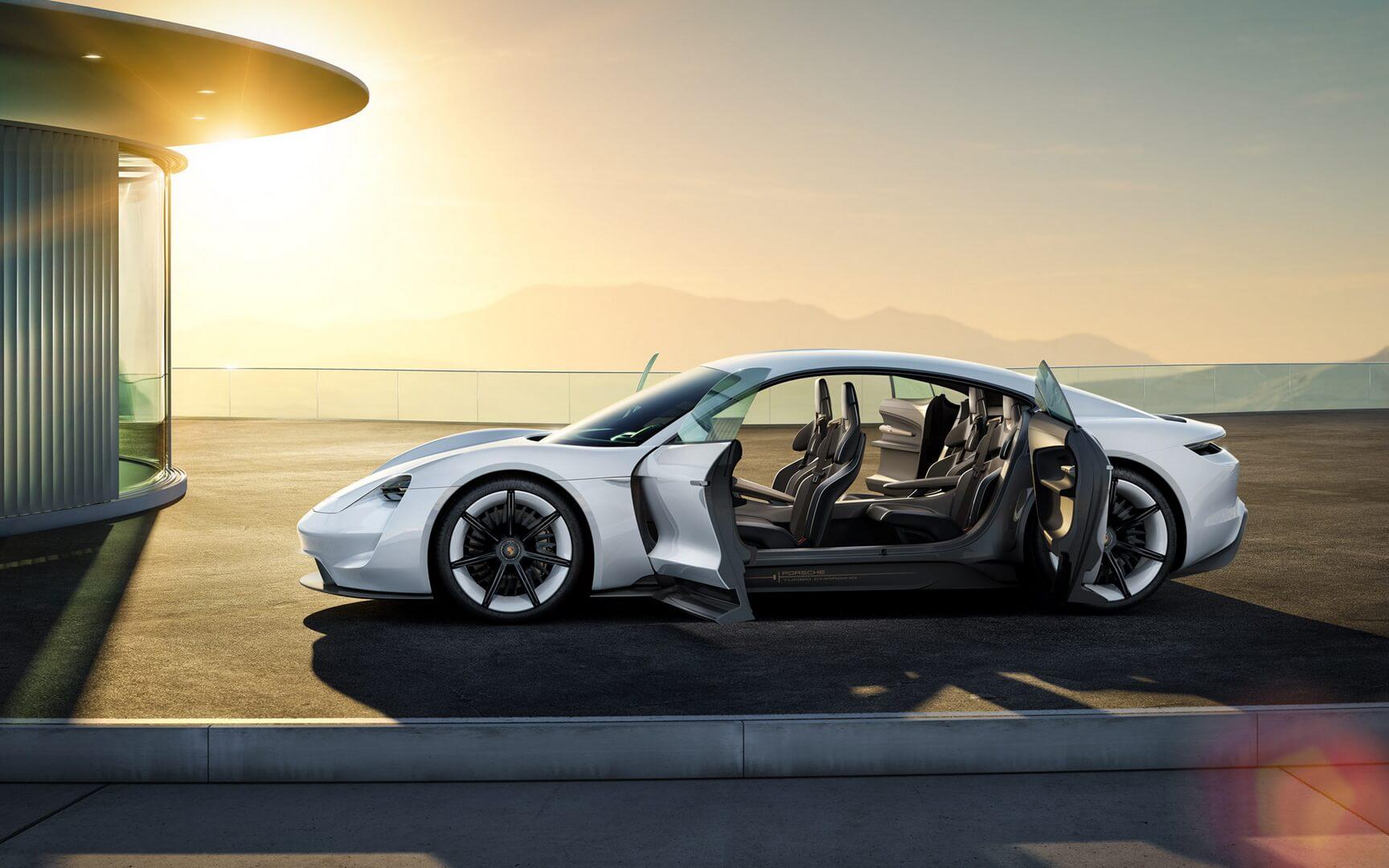 Электрокар Porsche Mission E— фото 2