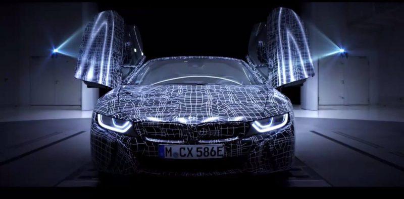 Новый плагин-гибридный спорткар BMW i8 Roadster