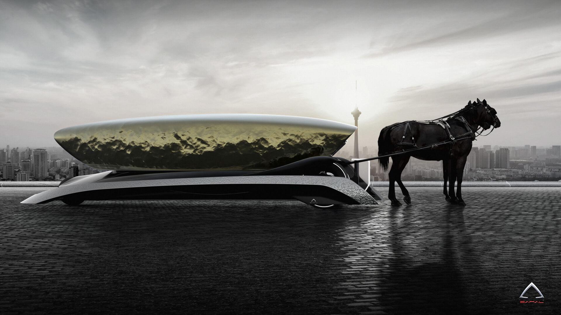 Концепт конного экипажа Camal Viva