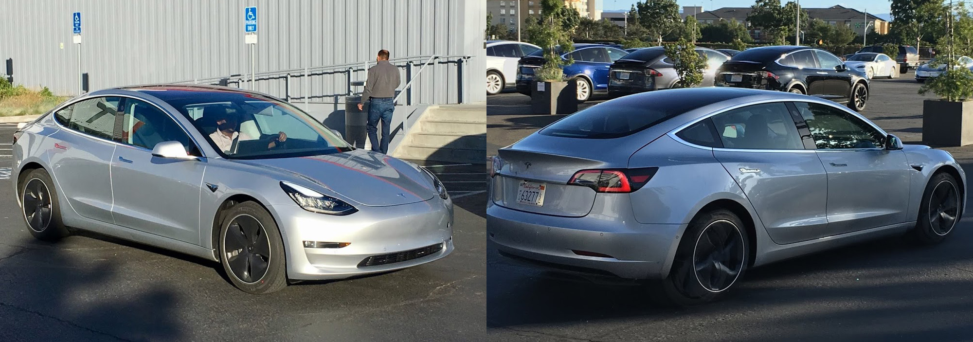 Цвета Midnight Silver Metallic и Silver Metallic Tesla Model 3