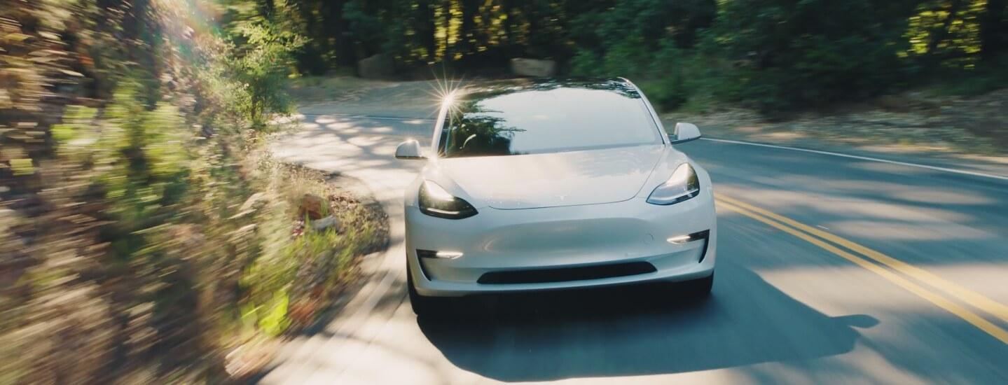 Цвет Pearl White Multi-Coat Tesla Model 3