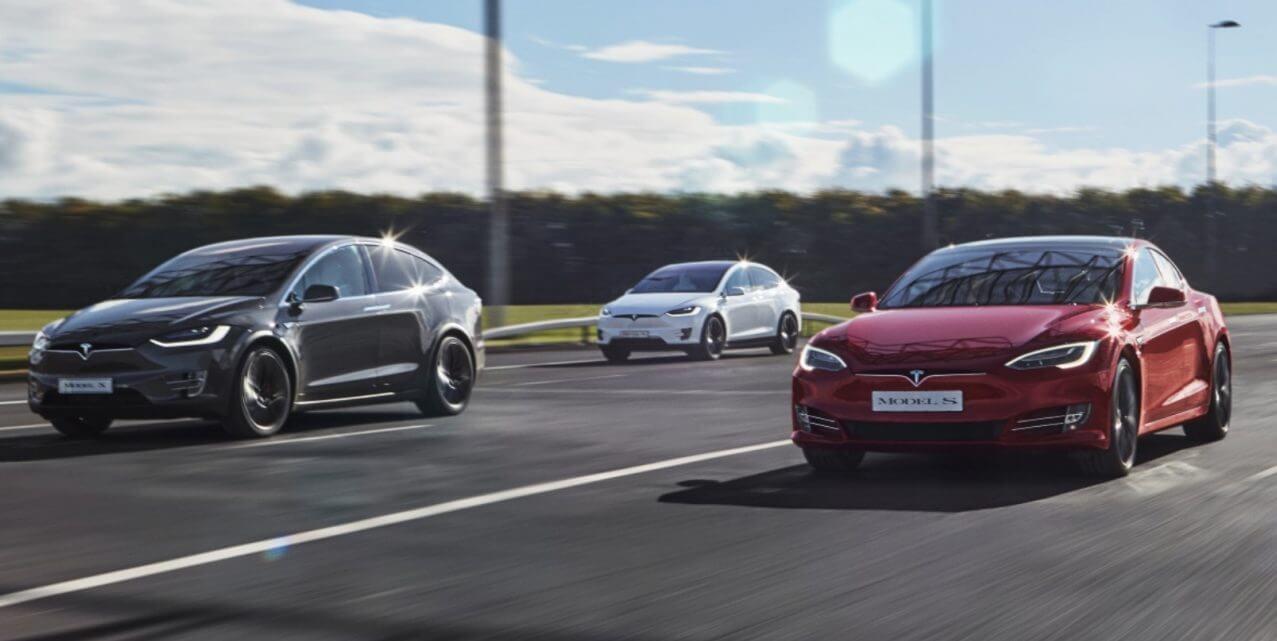Электромобили Tesla Model X и Tesla Model S