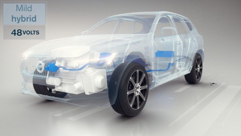 Схема гибридного автомобиля Volvo