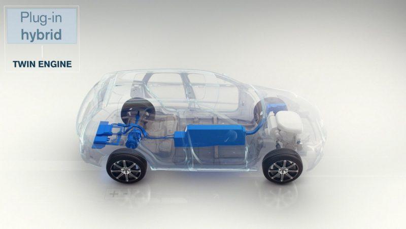 Схема плагин-гибридного автомобиля Volvo
