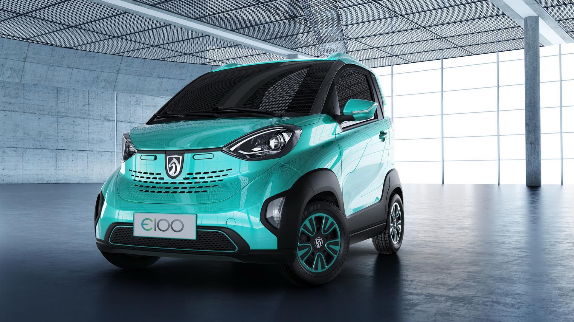 Самый бюджетный электромобиль в мире Baojun E100