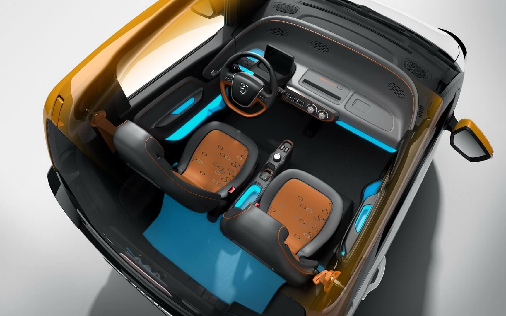 Салон бюджетного электромобиля Baojun E100