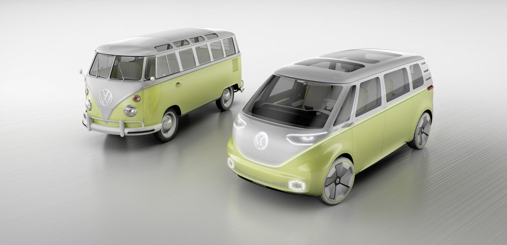 Сравнение Volkswagen I.D. BUZZ иT1