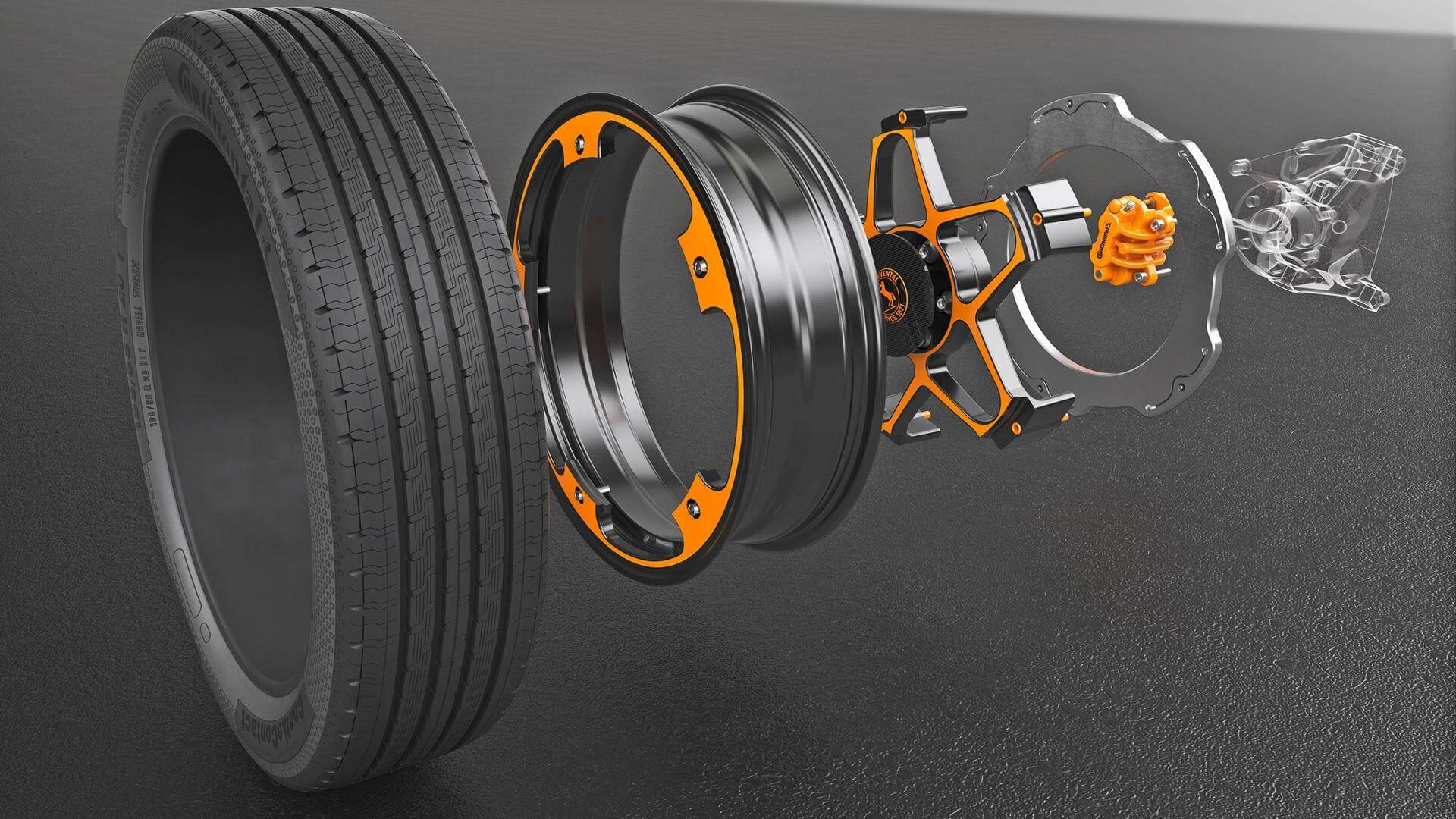 Конструкция колеса Continental для электромобилей