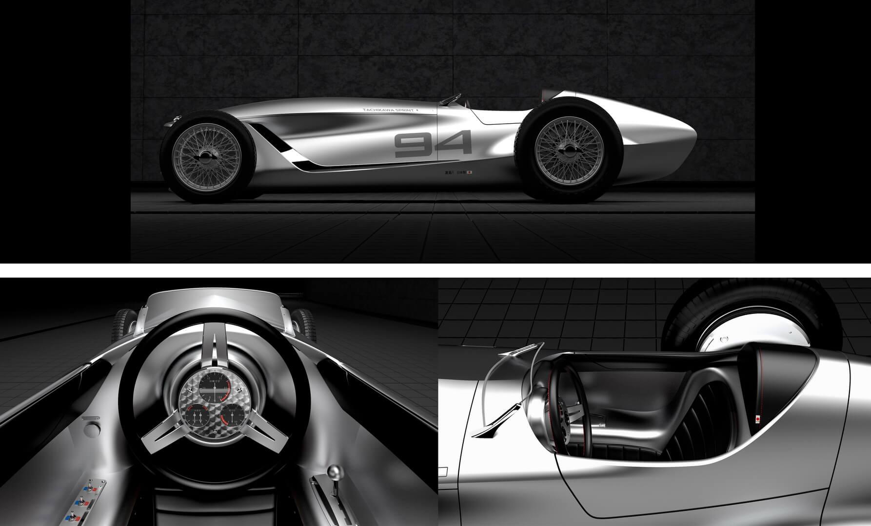 Дизайн электрического спорткара Infiniti Prototype 9