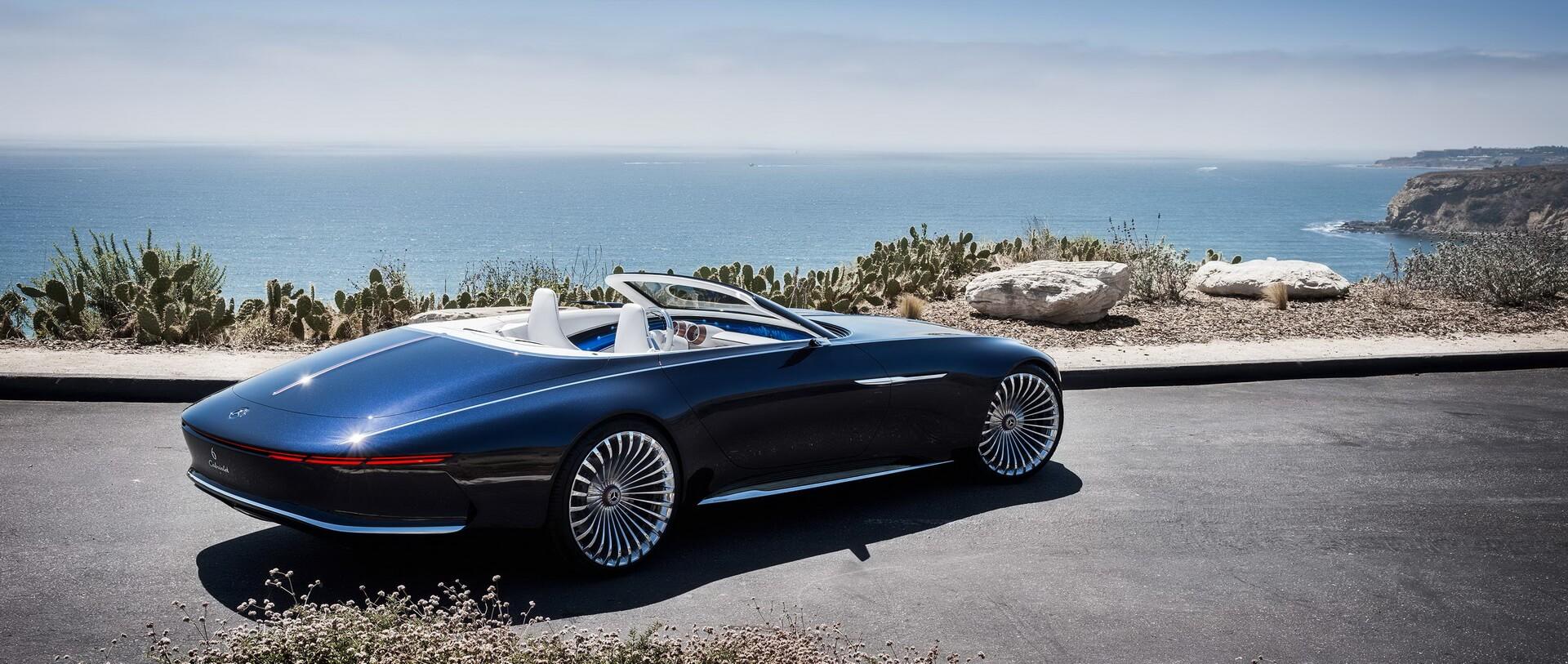 Откидной верх кабриолета Mercedes-Maybach 6