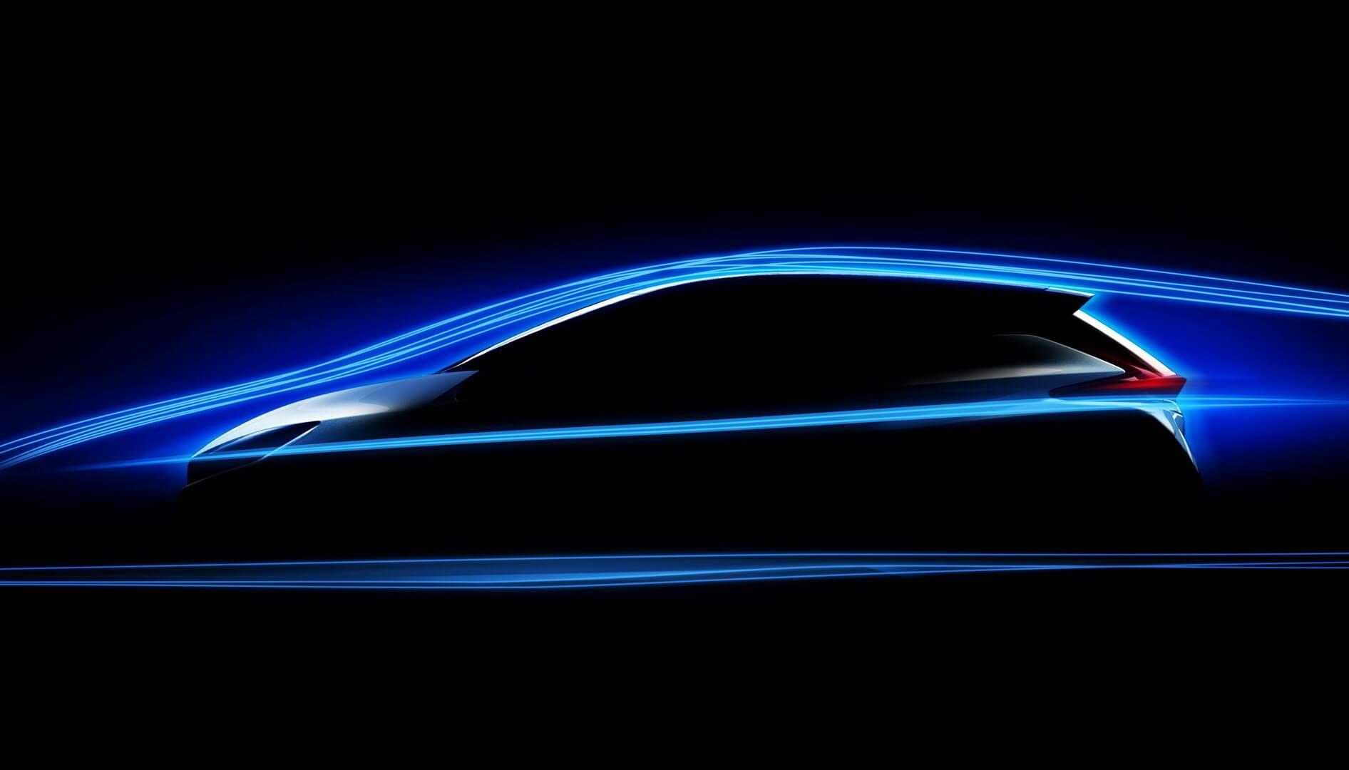 Фото силуэта электромобиля Nissan Leaf 2018