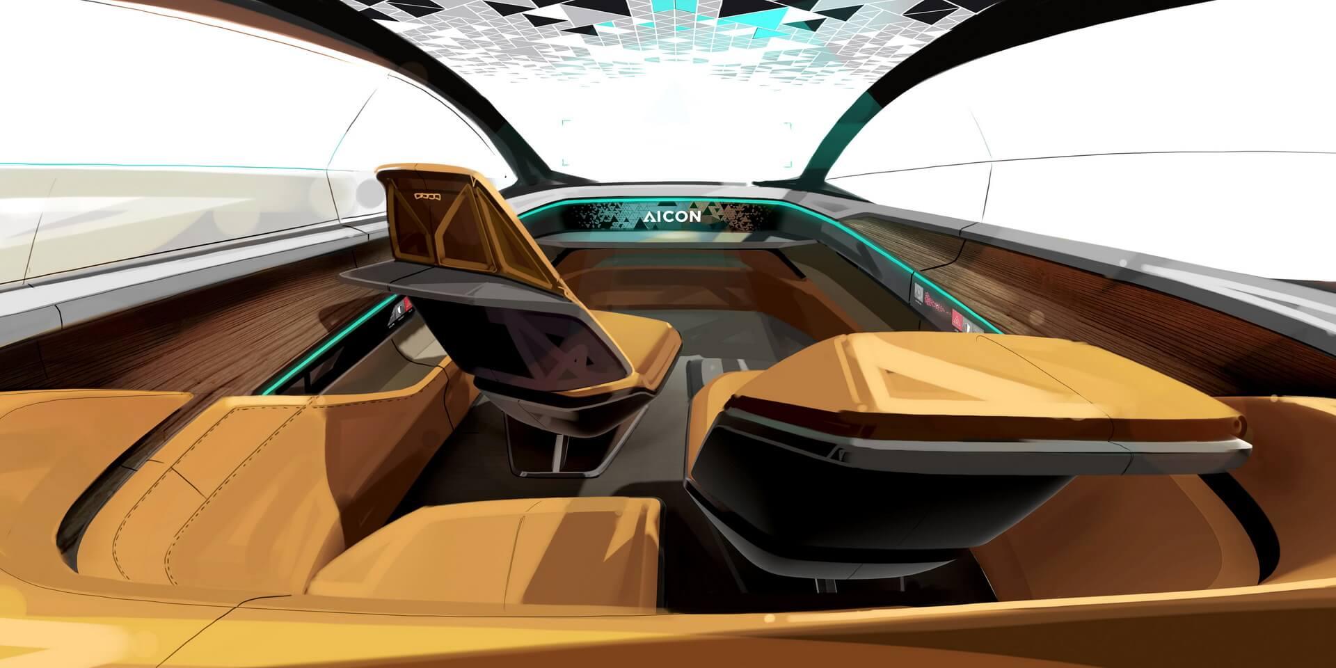 Мобильный салон Audi Aicon с панорамной стеклянной крышей