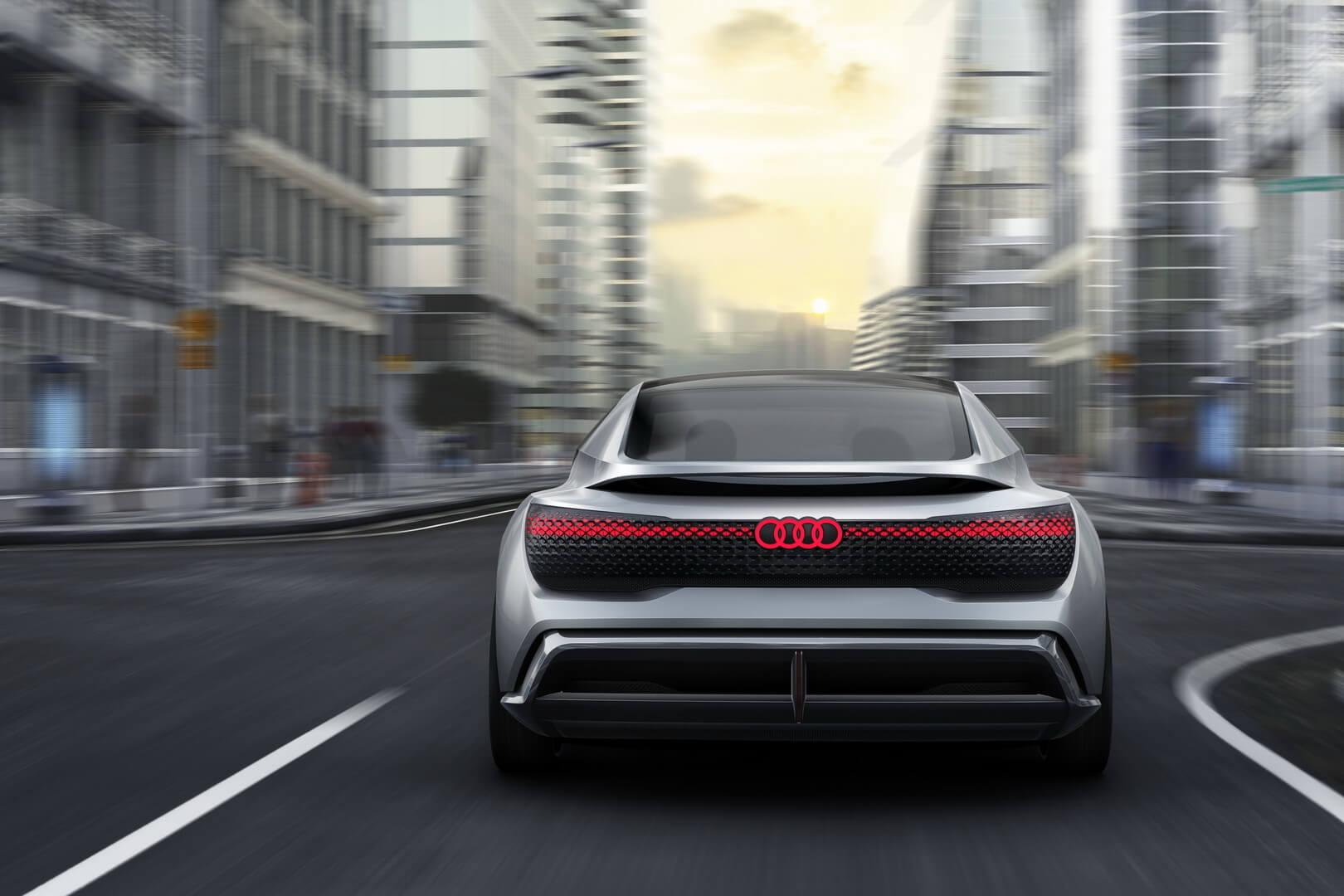 Вид сзади на концепт Audi Aicon