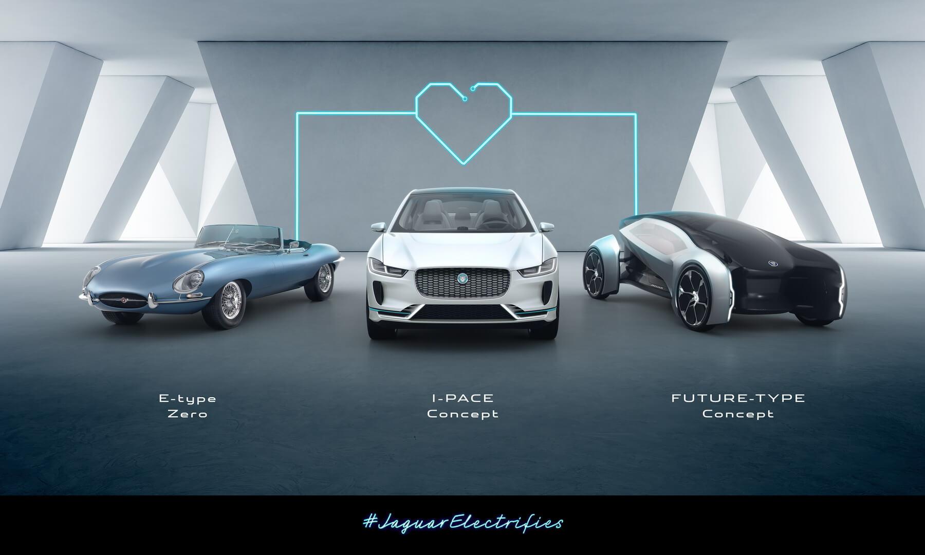 Jaguar E-type Zero, I-Pace, Future-Type Concept