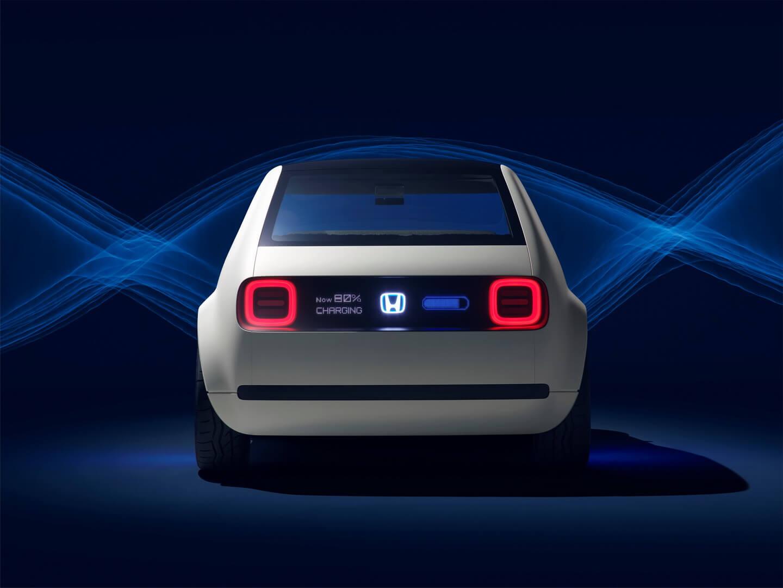 Вид сзади на концепт Honda Urban EV
