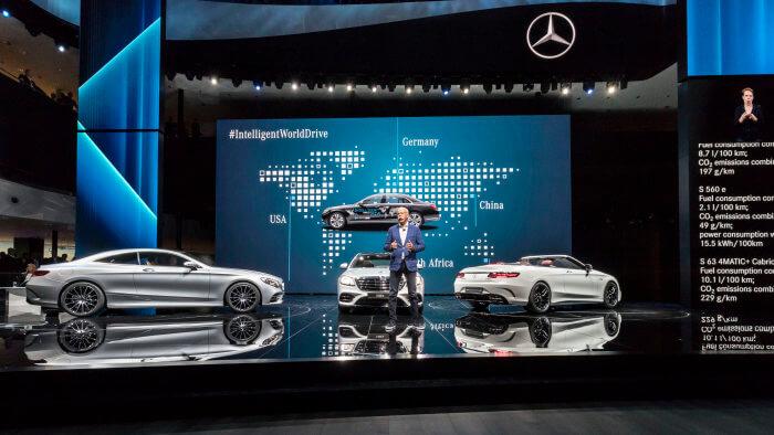 Mercedes-Benz на выставке автосалона во Франкфурте 2017
