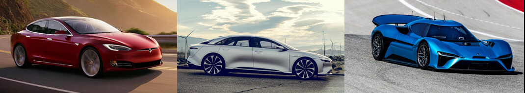 Tesla Model S — Lucid Air — Nio EP9