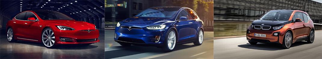 Tesla Model S — Tesla Model X — BMW i3
