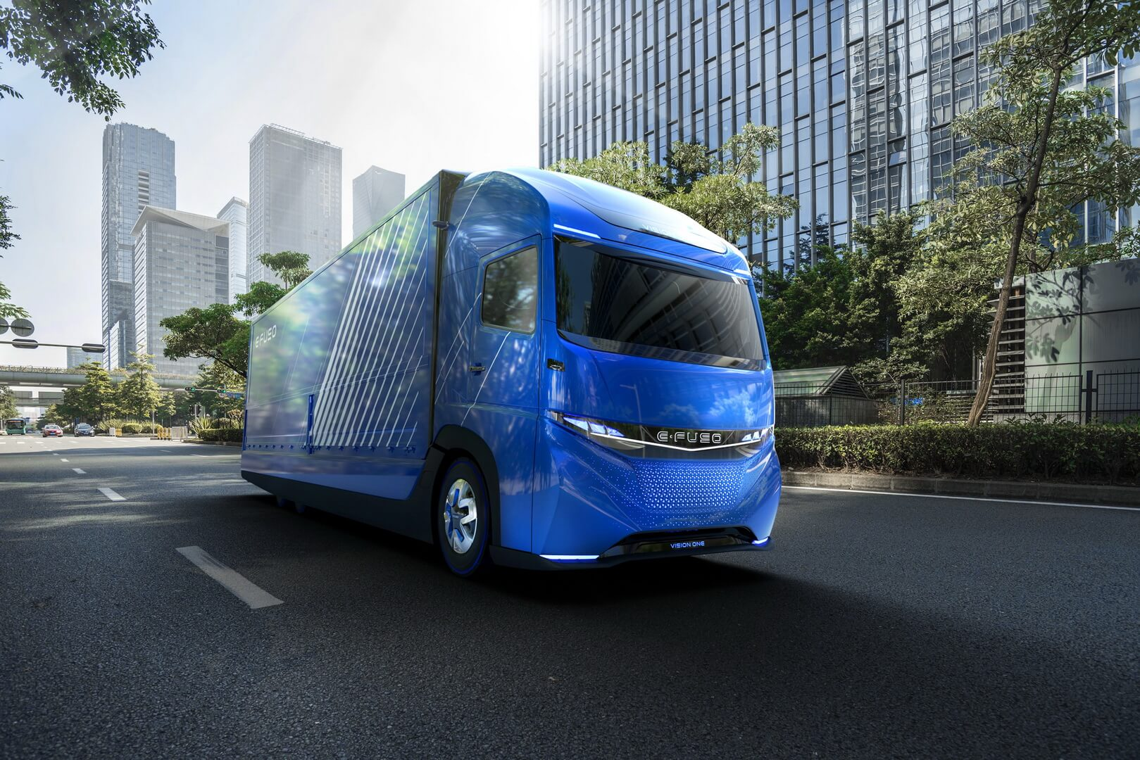 Электрический грузовик E-FUSO Vision One