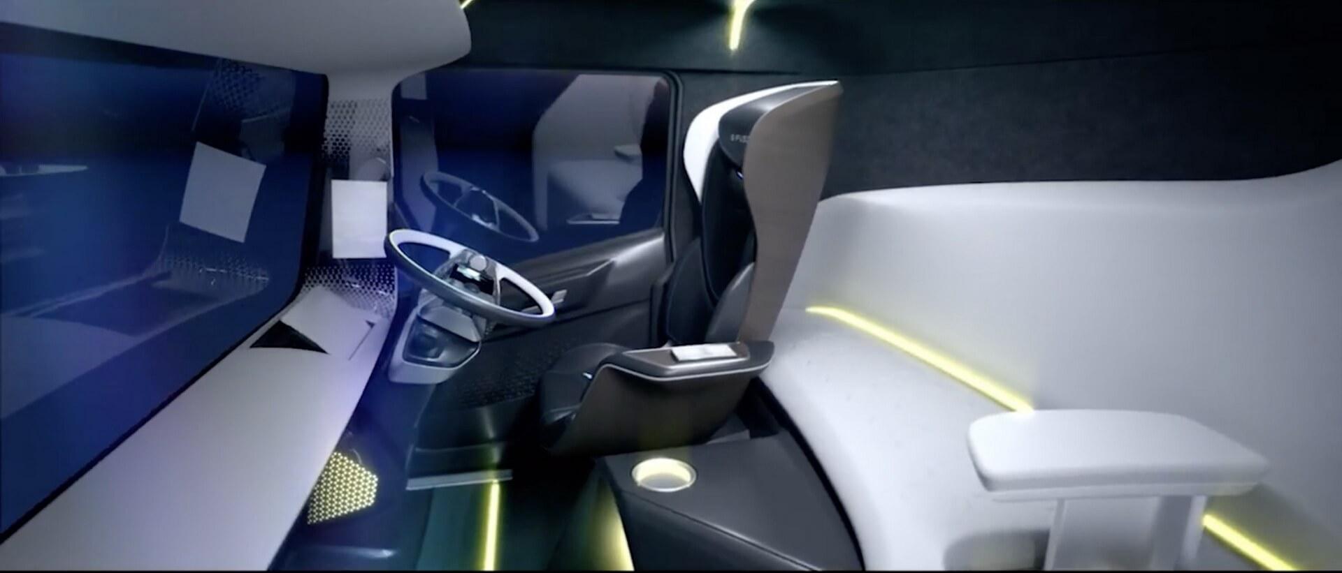 Салон электрогрузовика E-FUSO Vision One