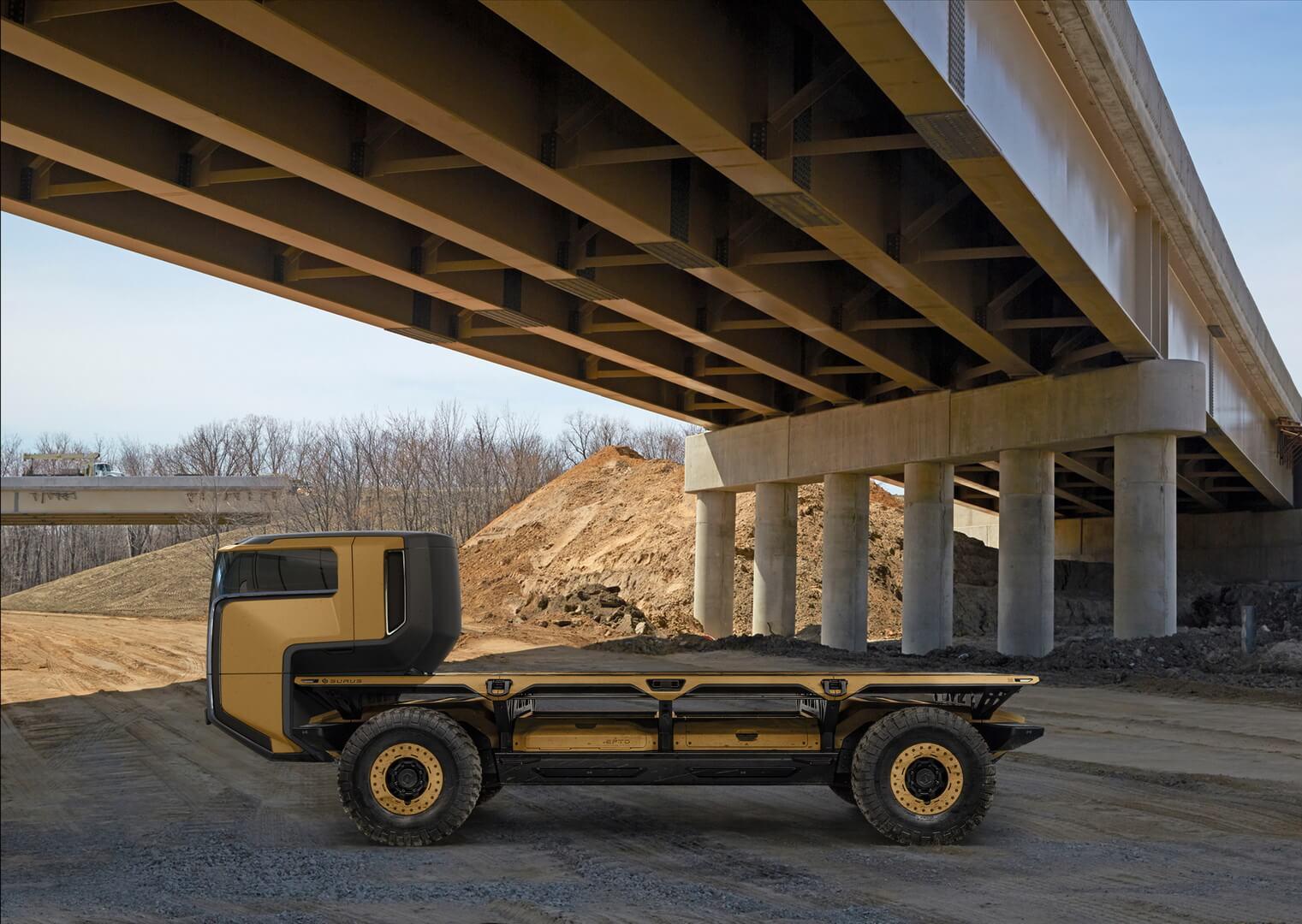 Электрическая платформа-грузовик SURUS на топливных элементах