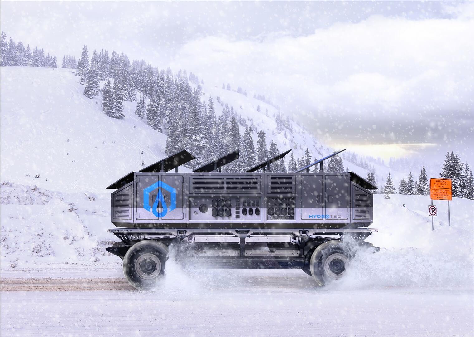 Автономная платформа-грузовик SURUS для военных целей