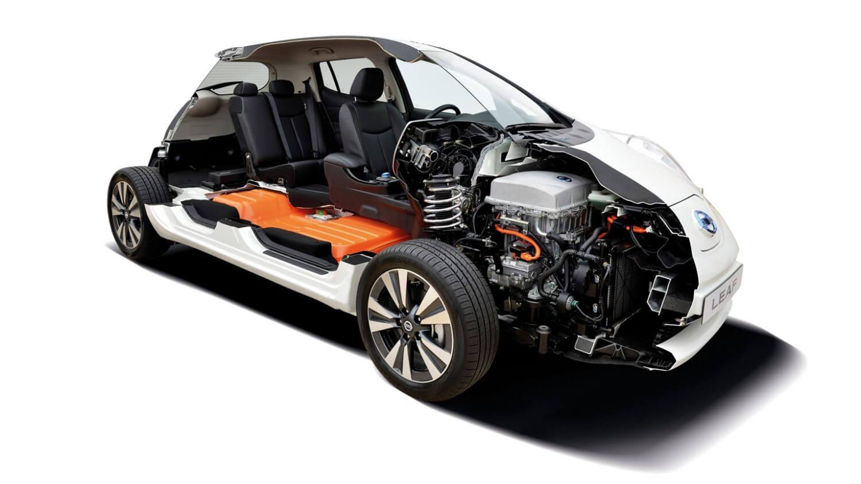 Электромобиль Nissan Leaf в «разрезе»: батарея с электродвигателем