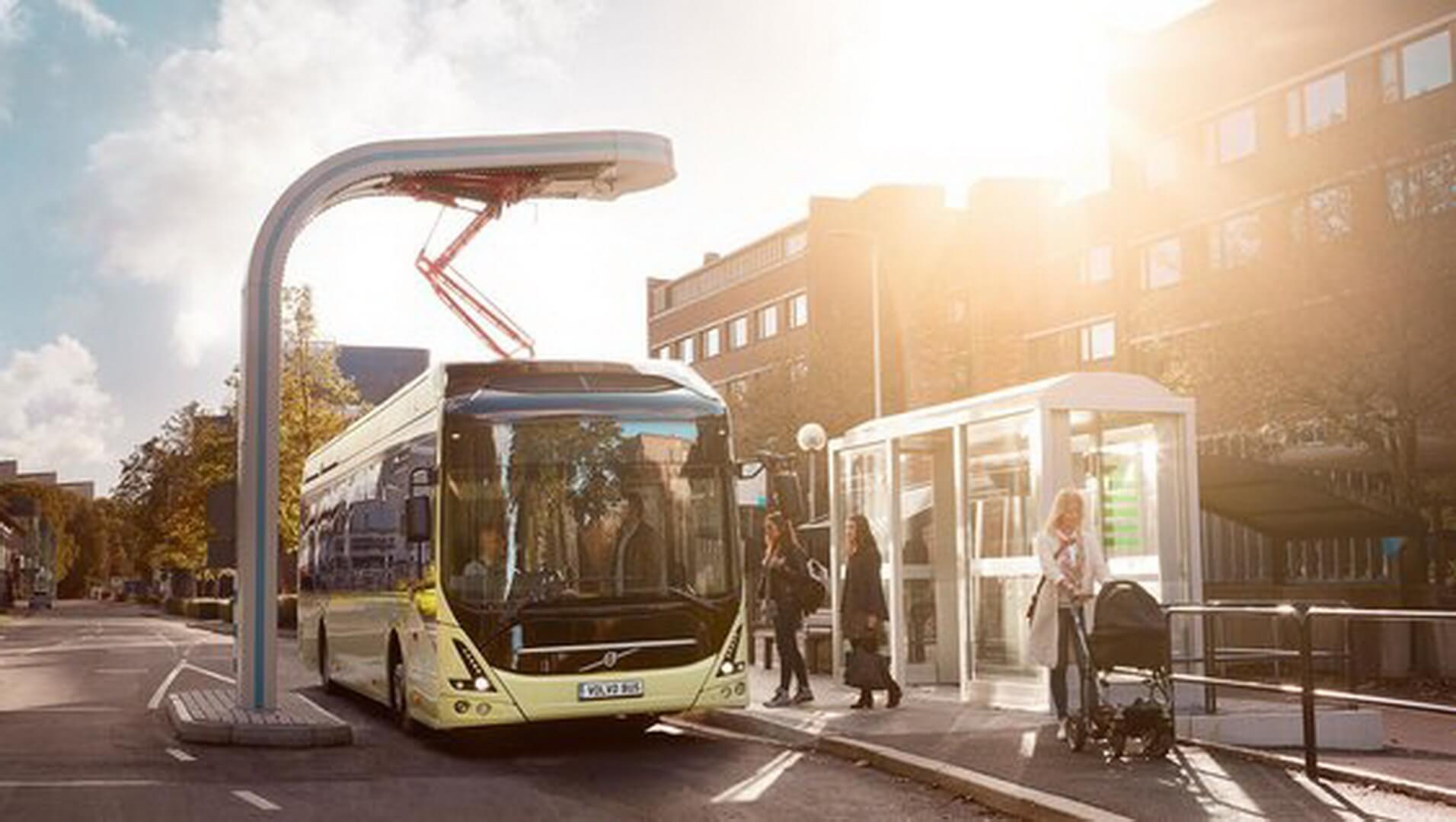 Быстрая зарядная станция OppCharge для автобуса Volvo 7900