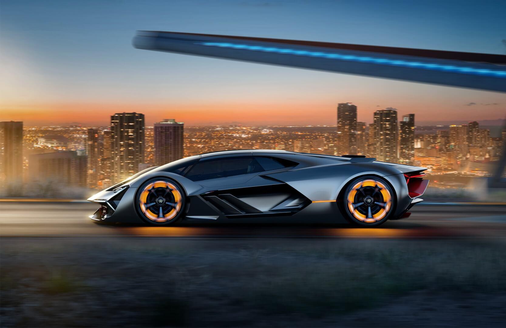 Концепт электрического суперкара Lamborghini Terzo Millennio