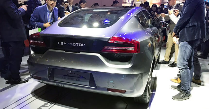 Электромобиль Leap Motor LP-S01 — вид сзади