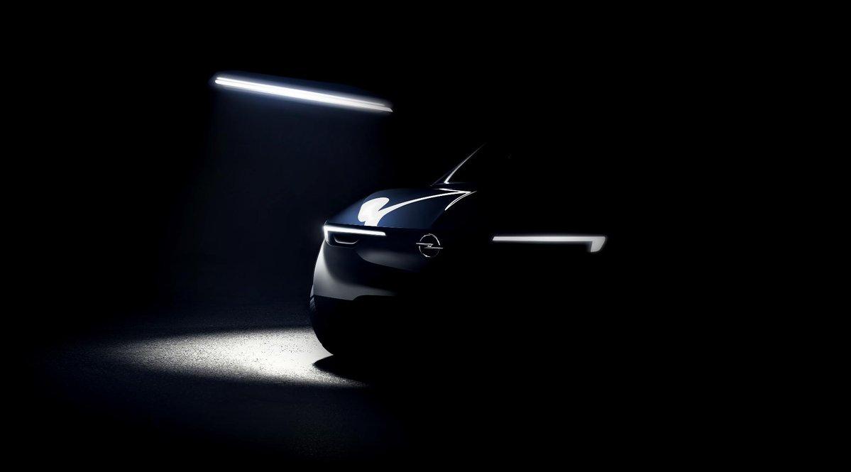 Фото-тизер будущего электрического кроссовера Opel Grandland X