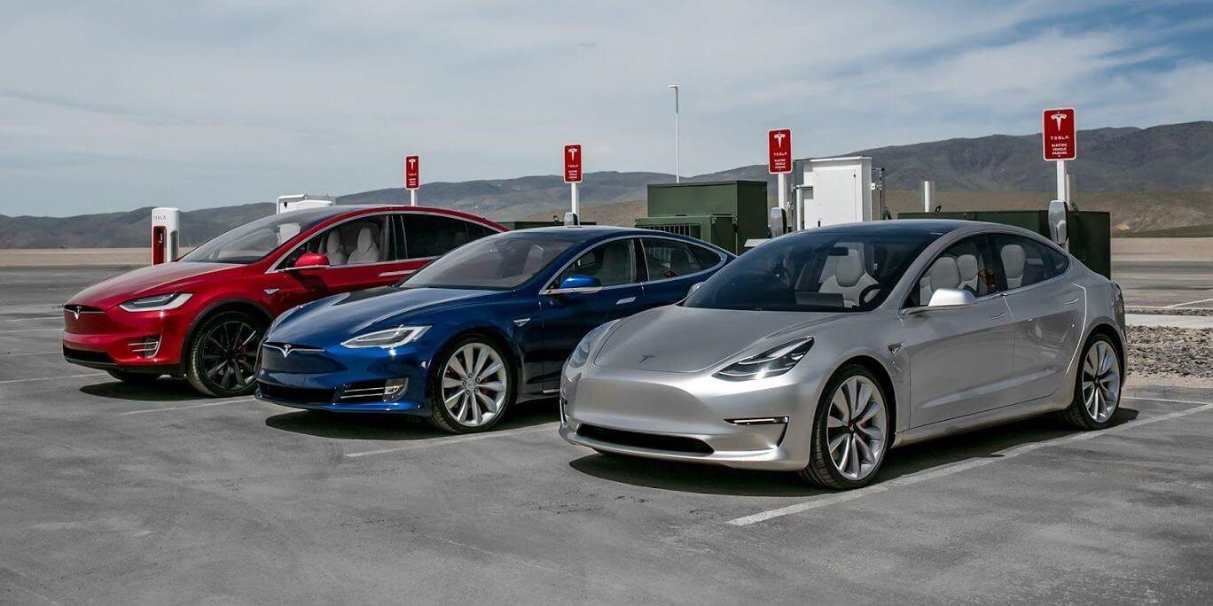 Электромобили Tesla Model X, Model SиModel3