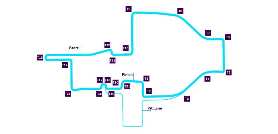 Схема трассы уличных гонок Formula E в Риме