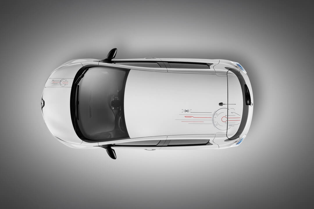 Оформлении элементов крыши Renault ZOE Star Wars Limited Edition