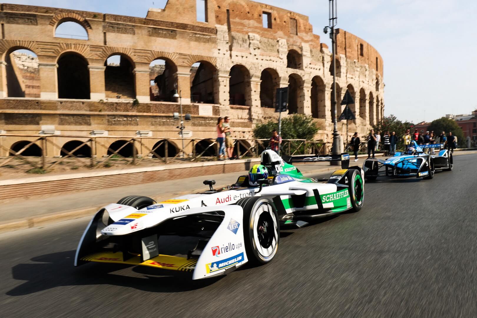 Один из этапов соревнований Formula E в Риме