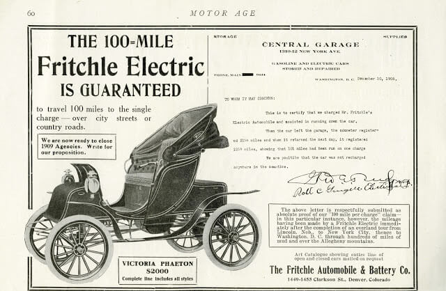 Электромобиль Fritchle фирмы The Fritchle Automobile & Battery Co