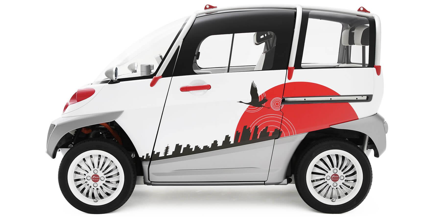 Прототип компактного электромобиля-амфибии Fomm Concept One
