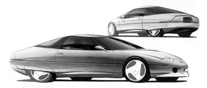 Концептуальный электромобиль Impact от General Motors