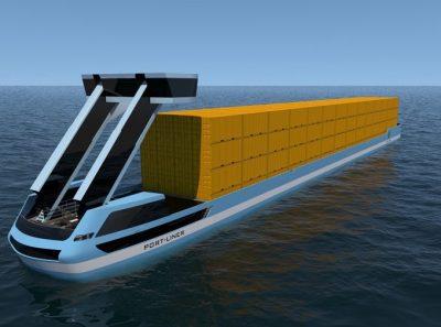 Электрическая контейнерная баржа