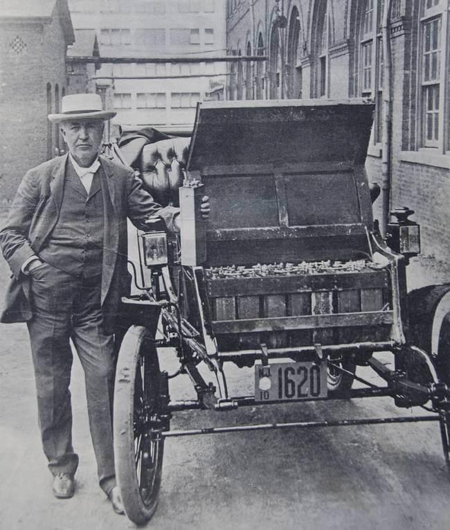 Электромобиль Томаса Эдисона с железо-никелевыми АКБ