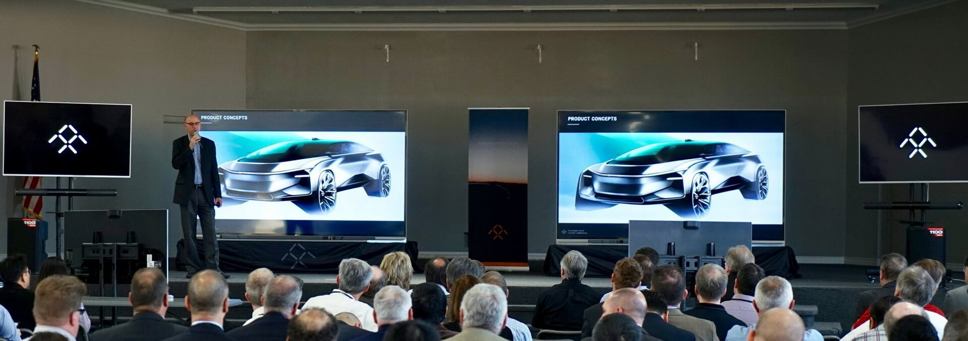 Фотографии прототипа будущего электрокара Faraday Future