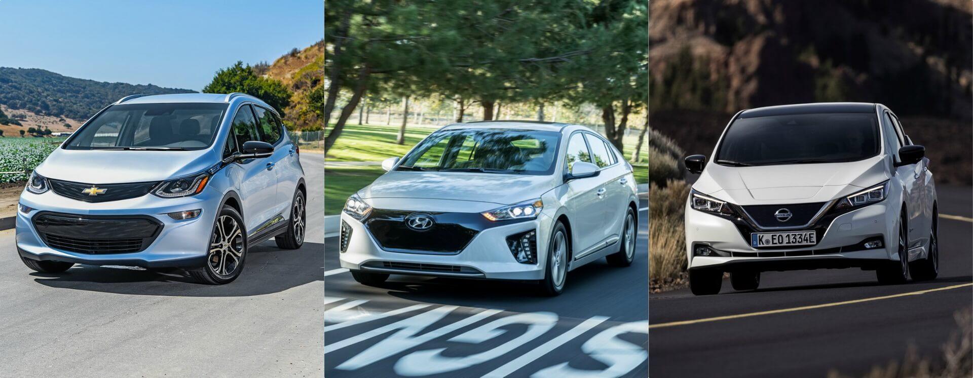 Chevy Bolt EV — Hyundai Ioniq Electric — Nissan Leaf 2018